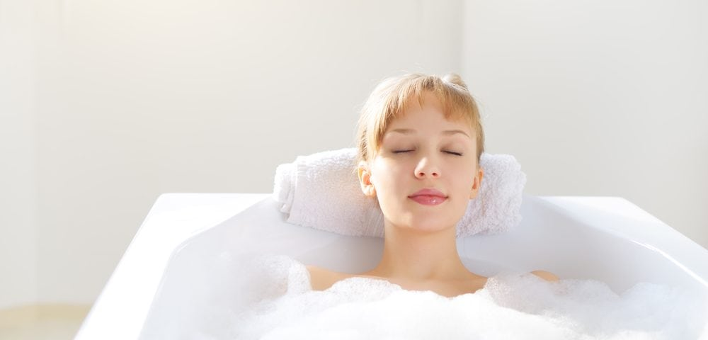 Girl in Tub Relaxing